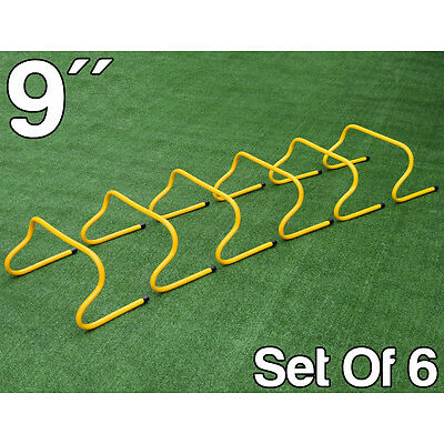 "6 x 9"" FXR SPORTS AGILITY HURDLES FOOTBALL RUGBY SPEED PLYOMETRIC TRAINING"