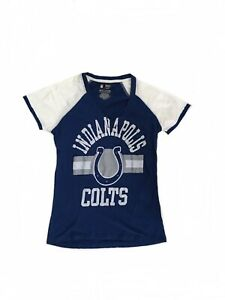 NFL-Team-Apparel-Women-s-Indianapolis-Colts-T-Shirt-Small-V-Neck-Football-Tee