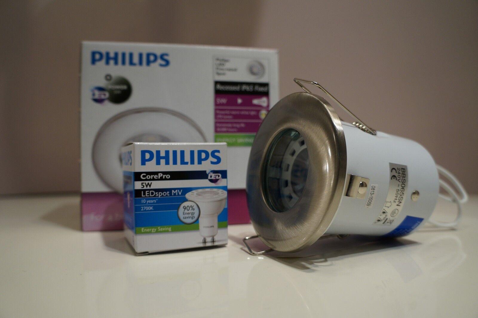Salle de bain downlight IP65 feu nominale downlight bain encastré avec 5 W LED Spotlight ou halogène 5c8c88