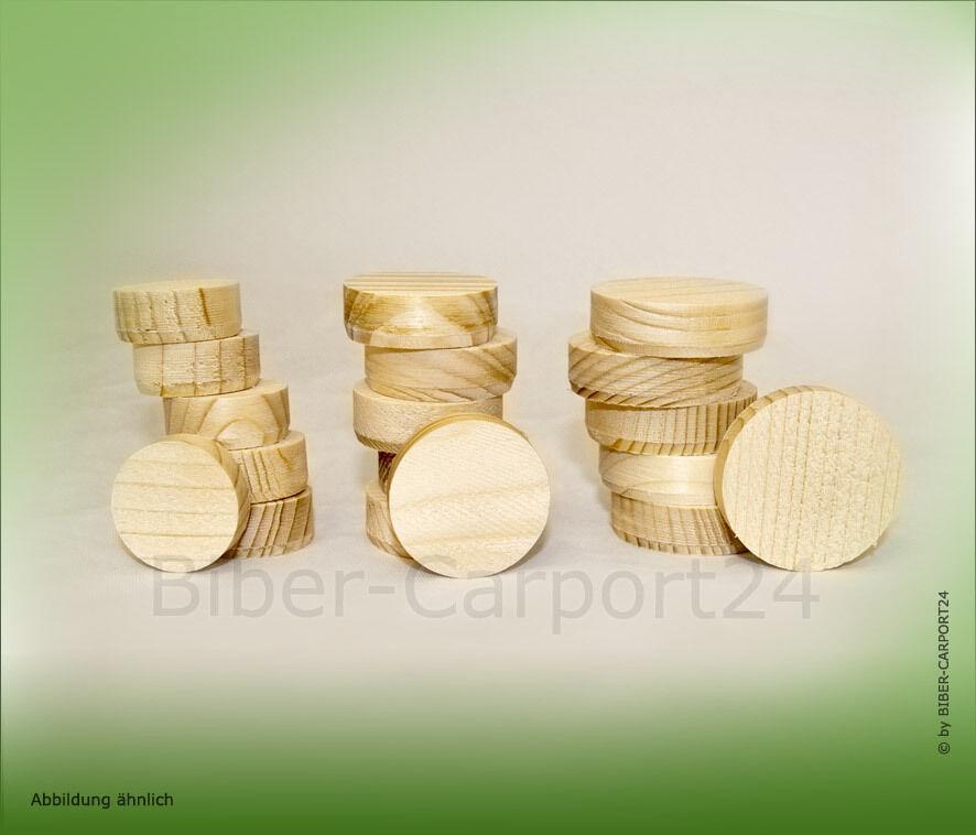 Querholzplättchen Lärche Fichte Konus-Plattl Konusplättchen Holz-Stöpsel rund     | Neuheit