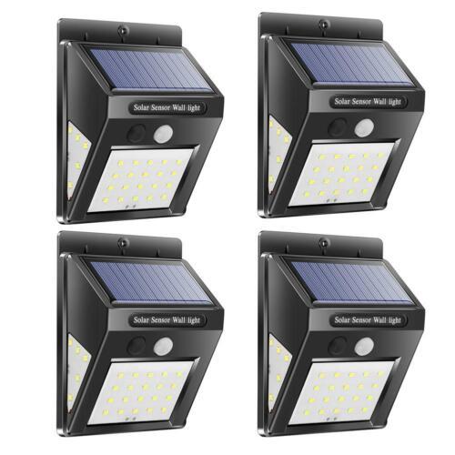 208LED Solar Motion Sensor Wall Light Outdoor Waterproof Garden Yard Lamp Decor