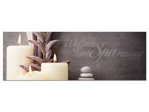 Details zu Acrylglasbild Wandbild Acrylglas für Badezimmer Spruch Wellness  Entspannung
