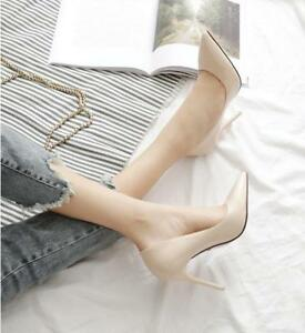 Women-039-s-Pointed-Toe-Pumps-Patent-Leather-Dress-Shoes-High-Heels-Wedding-Shoes