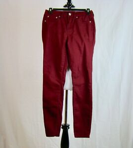Aeropostale-Women-039-s-High-Waisted-Jegging-Skinny-Burgundy-Jeans-Size-2