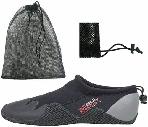 Mens Gul Slipper Power Shoes Blindstitched Wetsuit Size 5 Black /& Drying Bag