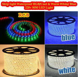 LED-Strip-220V-230V-240V-RGB-Waterproof-5050-SMD-Lights-Rope-Free-AC-Adopter