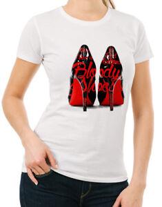 7dea07493848 Cardi B Bloody Shoes Womens T-shirt Hip Hop Bodak Yellow Money Moves ...