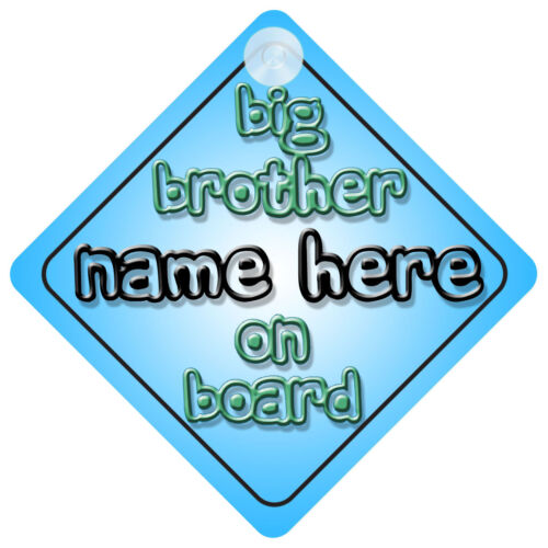 Choice of 30 Different Designs Brother /& Sister on Board Car Signs Child//Baby