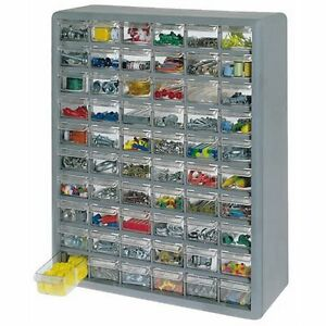 Stack On 60 Drawer Storage Cabinet Ds 60 Grey 608934