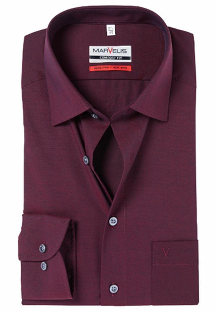 Bordeaux Poplin Spread Collar
