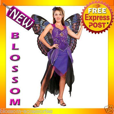 C829 Purple Butterfly Deluxe Queen Fairy Fancy Dress Halloween Adult Costume