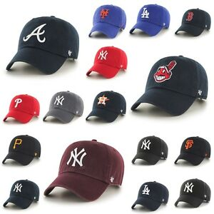 47-Brand-Cap-MLB-Baseball-Muetze-Yankees-Curved-verstellbar-Dad-Hat-Retro-Oldscho