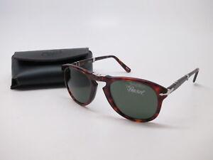 d145a8f575 Persol PO 714 24 31 Havana w Crystal Green Folding Sunglasses 52mm ...
