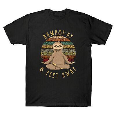 Hippies Yoga Namast/'ay 6 Feet Away Social Distancing Vintage Men/'s Black T-shirt