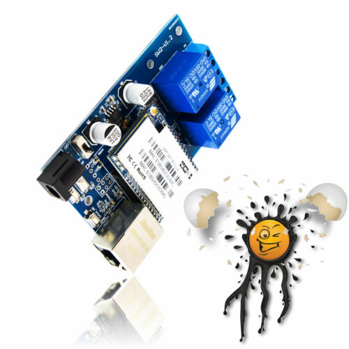 WiFi//Ethernet TCP//IP 2 Channel 5V relay router Board RS232 to TCP//IP 16MB Flash