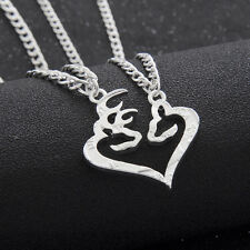 Necklace Couple Kissing Deer Doe Friendship Pendant Hunting Love 2 pieces