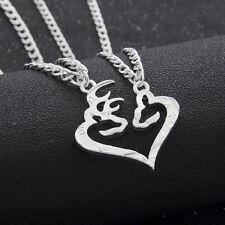 Necklace Couple Kissing Deer Doe Friendship Pendant Hunting Love 2 pieces