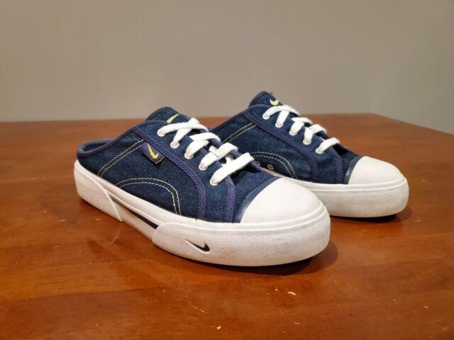 Nike Hermosa Mules Womens Blue Denim