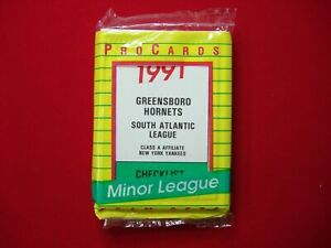 1991 GREENSBORO HORNETS PROCARDS MARIANO RIVERA (1st CARD) NEW YORK YANKEES