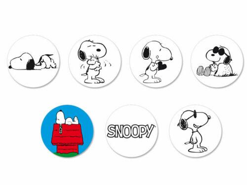 Lot Pack Magnet Aimant Ø38mm Snoopy Comic Strip Peanuts Charlie Brown BD