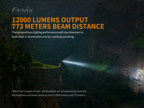 Fenix LR40R Cree LEDs USB Rechargeable Searching Flashlight Torch Battery Pack