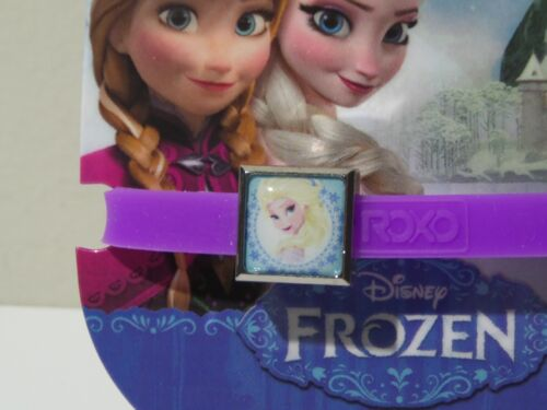 Disney Frozen Interchangeable Charms Band Bracelet Elsa ROXO Purple