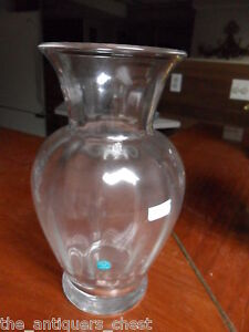 Tiffany-amp-Co-Germany-Classic-LARGE-vase-Optic-made-in-England-11-034-tall-signed