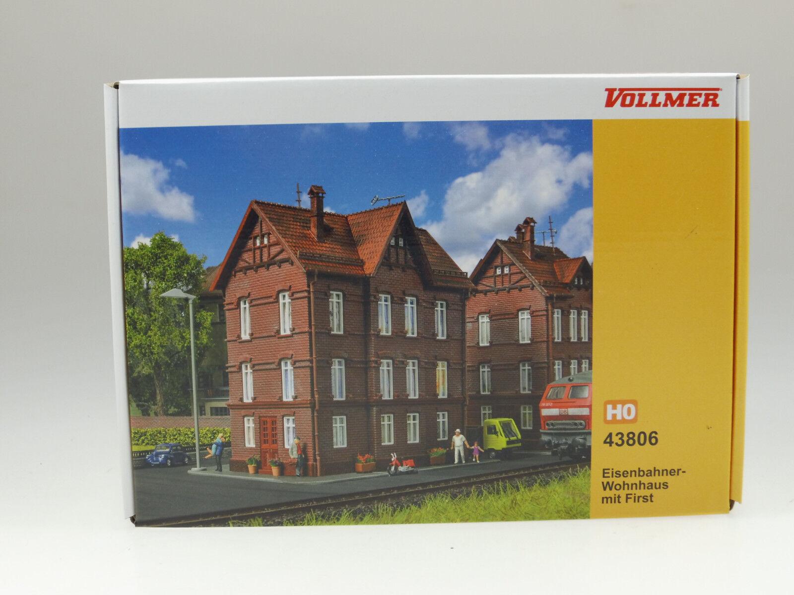 Vollmer H0 43806 Eisenbahner-Wohnhaus mit First   Bausatz Neuware Messepreis