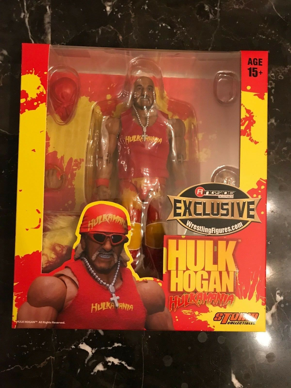 Storm Collectibles  rosso Hulkamania  Hulk Hogan Action Figure Ringside Exclusive
