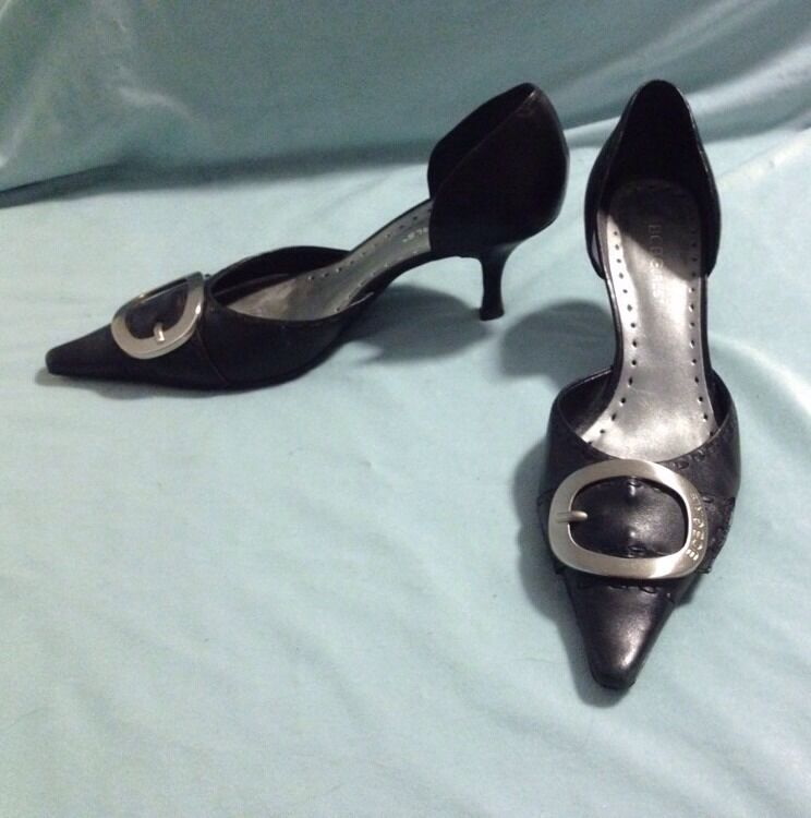 BCBGirls Leather Pumps Sz 7.5 Made In Brazil