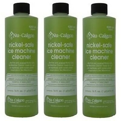 3-Lot Nu-Calgon 4287-34 Nickel-Safe Ice Machine Cleaner - New OEM