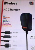 Just Wireless 04407 Mobile Phone Battery 3w Ac Charger Retail Box