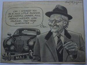 ORIGINAL-Arthur-Daley-George-Cole-Michael-Heseltine-Peter-Brookes-Times-Cartoon
