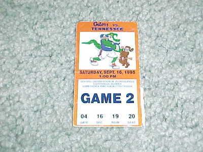 1995 Florida Gators v Tennessee Vols Football Ticket 9/16 ...