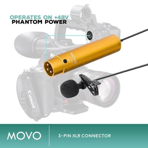Movo LV-6C Pro Cardioid XLR Lavalier Condenser Microphone w// 8.3mm Mic Capsule