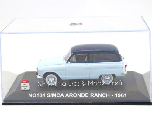 SIMCA ARONDE RANCH 1961 N°104 1//43