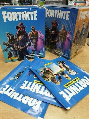 10 UNOPENED PACKS SEALED. PANINI FORTNITE READY TO JUMP STICKERS