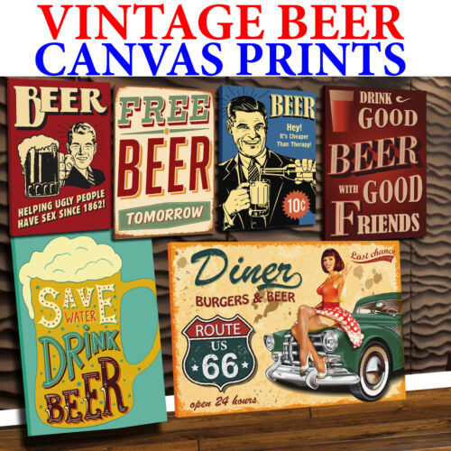BEER CANVAS - MANY DESIGNS AVAILABLE - FREE UK P&P