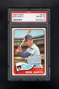 1965-TOPPS-110-RON-SANTO-HOF-CHICAGO-CUBS-PSA-8-NM-MT-SHARP-CARD