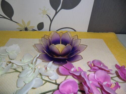 """Teelichthalter Blume Capiz /"""" freie Farbauswahl /"""" für Partylite Teelichter Neu"""