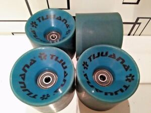 4-x-TIJUANA-LONGBOARD-WHEELS-70mm-ABEC-7-BEARINGS-LONGBOARD-SKATEBOARD