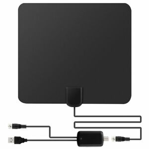Flat-HD-Digital-Indoor-Amplified-TV-Antenna-HDTV-50-Mile-Range-TVFox-VHF-UHF-DVB