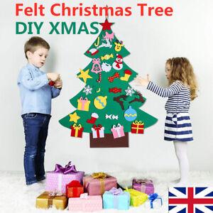Kids-Felt-Christmas-Tree-Ornaments-Xmas-Gift-DIY-Door-Wall-Hanging-Decor-Toys-UK