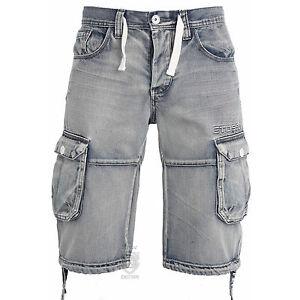 Mens-Shorts-EMS487-Designer-Cargo-Combat-Branded-Summer-Shorts-Waist-Size-28-42