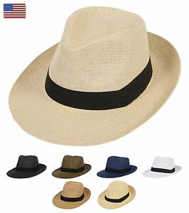 92800a8ccbc395 Image is loading Summer-Cool-Outback-Panama-Wide-brim-Fedora-Straw-