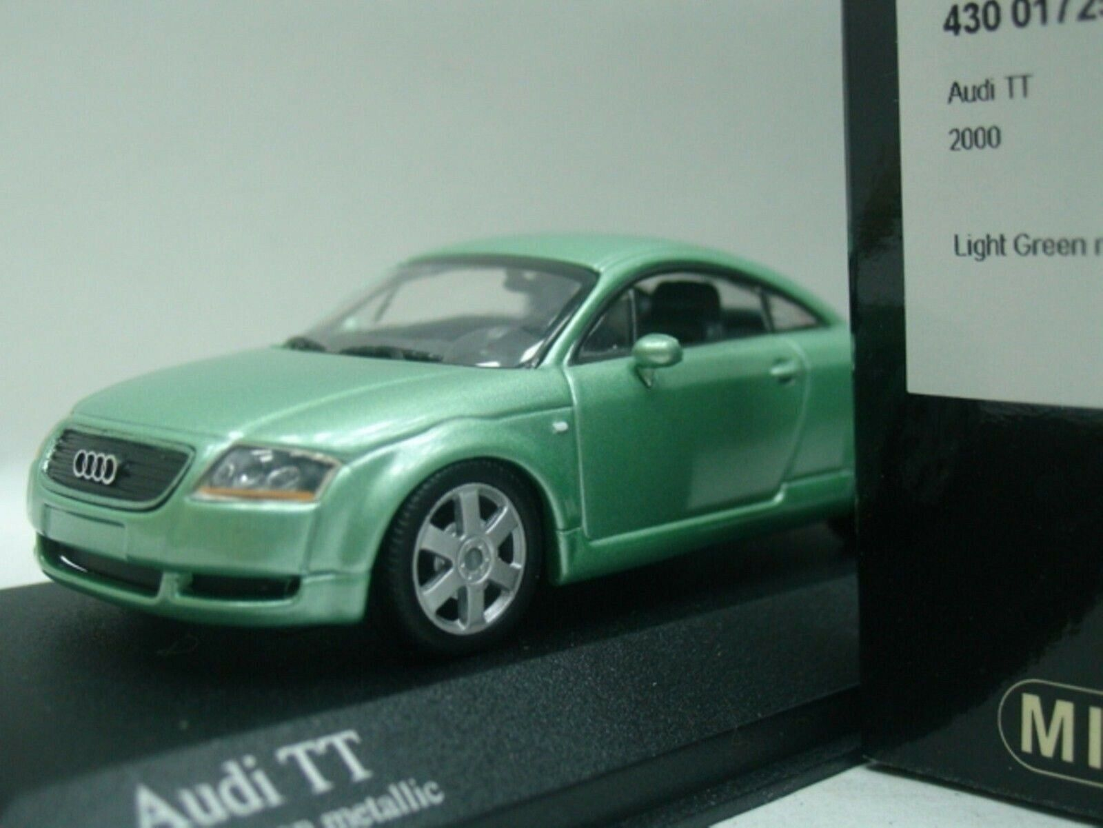 WOW EXTREMELY RARE Audi TT Coupe Phase 2 1.8T Quattro 2000 Green 1 43 Minichamps