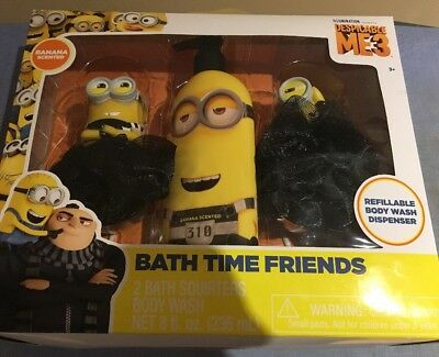 Despicable Me 3 Bath Time Friends Gift Set Banana Scented Hard To Find!
