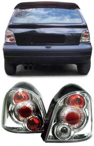 Klarglas Rückleuchten chrom für Renault Twingo 93-07