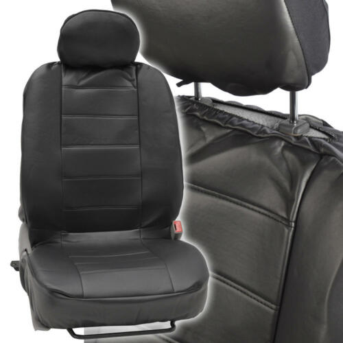 ProSyn Black Leather Auto Seat Covers for Ford Mustang Full Set Car Cover