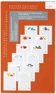 COLLECTOR-039-s-pack-Picture-Postage-DIE-CUT-set-of-12-design-SEALED-Canada-2012